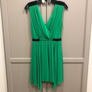 BCBG green and black cocktail dress